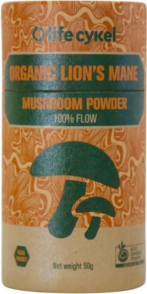 Life Cykel Organic Lion's Mane Mushroom Powder 50g