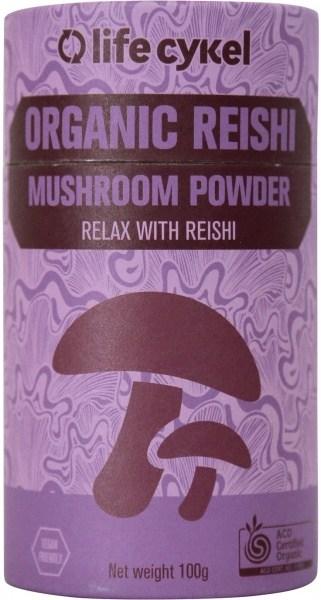 Life Cykel Organic Reishi Mushroom Powder 100g