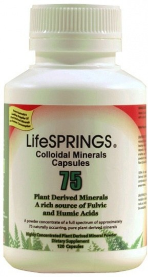 LifeSprings Colloidal Mineral Capsules 120Caps