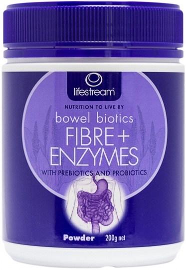 Lifestream Bowel Biotics Fibre+ Enzymes Powder 200g JUL19