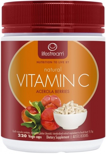 Lifestream Natural Vitamin C Capsules 220 caps