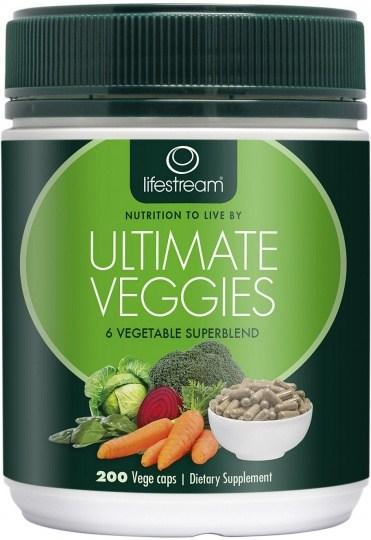 Lifestream Ultimate Veggies Capsules 200 caps
