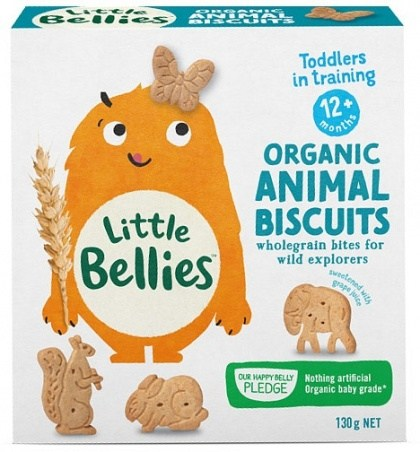 Little Bellies Organic Animal Biscuits (12+ months) 130g