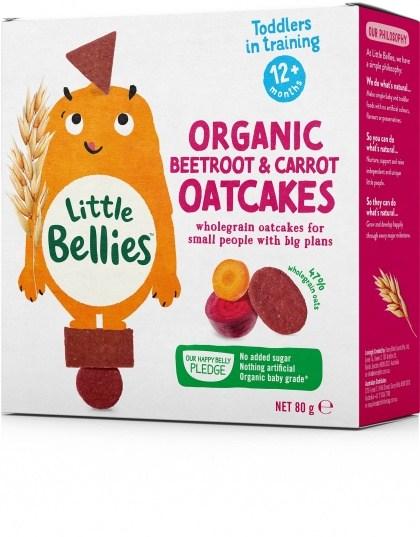 Little Bellies Organic Beetroot & Carrot Oatcakes (12+ months) 80g