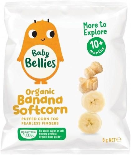 Little Bellies Organic Softcorn Banana Finger Food (12+ months) 8g