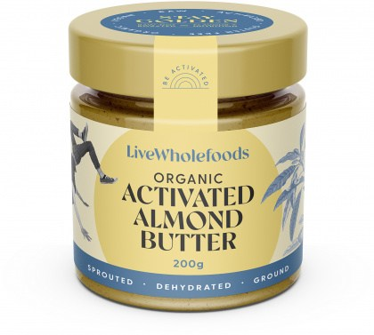 Live Wholefoods Organic Activated Almond Butter  200g
