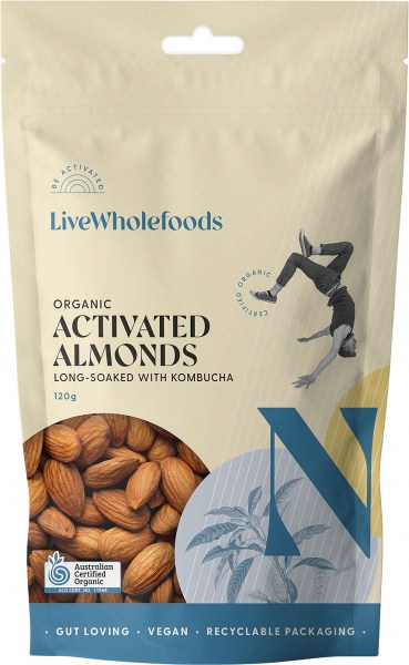 Live Wholefoods Organic Activated Almonds 120g