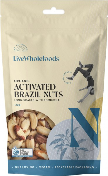 Live Wholefoods Organic Activated Brazils 120g