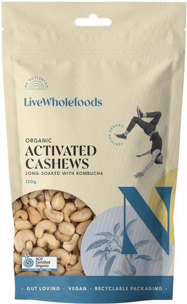 Live Wholefoods Organic Activated Cashews 120g