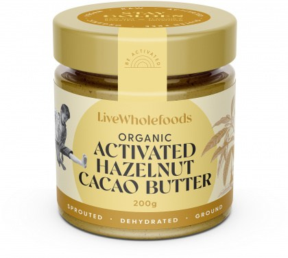 Live Wholefoods Organic Activated Hazelnut Cacao Butter  200g