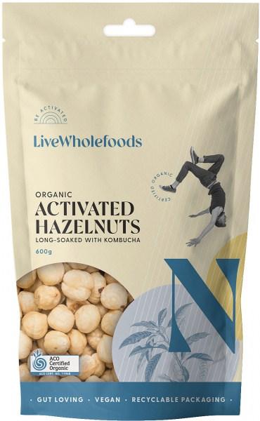 Live Wholefoods Organic Activated Hazelnuts 600g