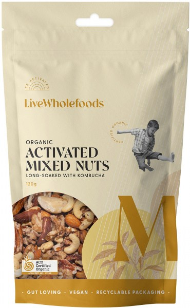 Live Wholefoods Organic Activated Mixed Nuts 120g