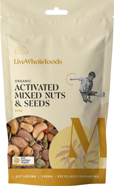 Live Wholefoods Organic Activated Mixed Nuts & Seeds 600g