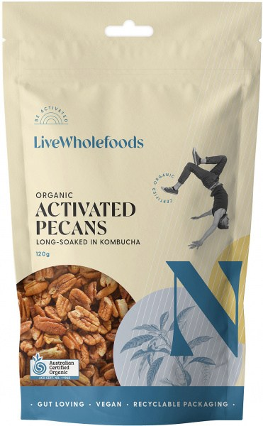 Live Wholefoods Organic Activated Pecans 120g