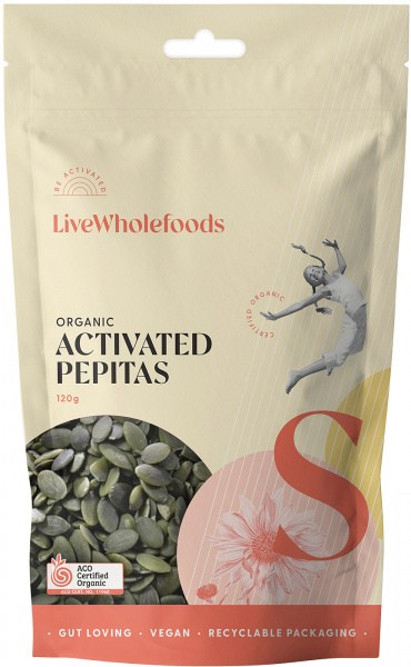Live Wholefoods Organic Activated Pepitas 120g