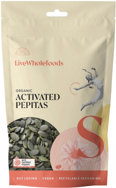 Live Wholefoods Organic Activated Pepitas 600g
