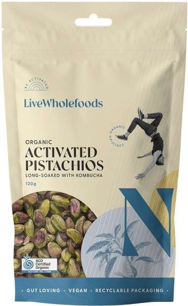 Live Wholefoods Organic Activated Pistachios 120g