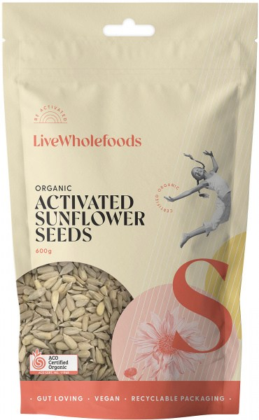 Live Wholefoods Organic Activated Sunflowers 600g