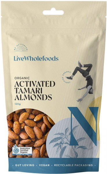 Live Wholefoods Organic Activated Tamari Almonds 120g