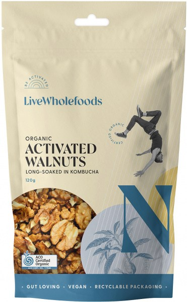 Live Wholefoods Organic Activated Walnuts 120g