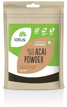 Lotus Acai Powder Freeze Dried Organic  75g
