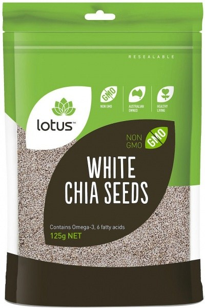 Lotus Chia Seeds White (Bag) 125g