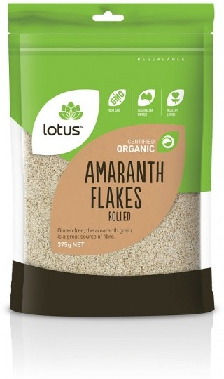 Lotus Organic Amaranth Flakes Rolled  375g