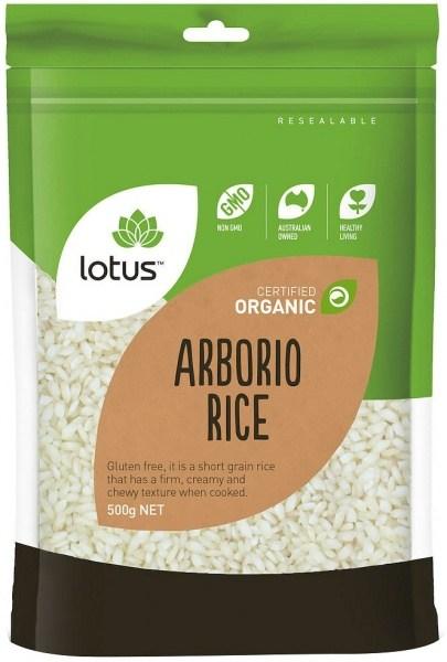 Lotus Organic Arborio Rice 500gm