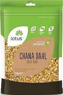 Lotus Organic Chana Dahl (Split Peas)  500gm