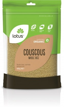 Lotus Organic Cous Cous Whole Rice 500g