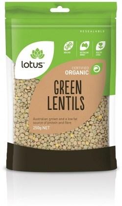 Lotus Organic Green Lentils 250g