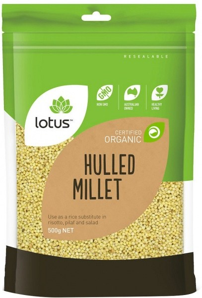 Lotus Organic Hulled Millet 500g (Local)