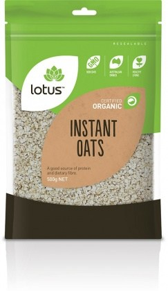 Lotus Organic Instant Oats 500gm