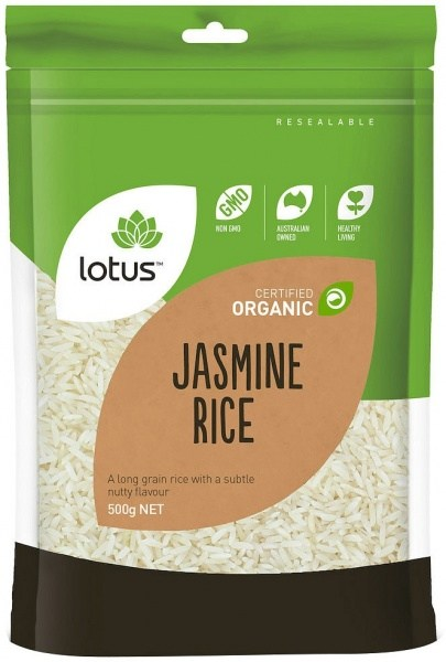 Lotus Organic Jasmin Rice  500gm