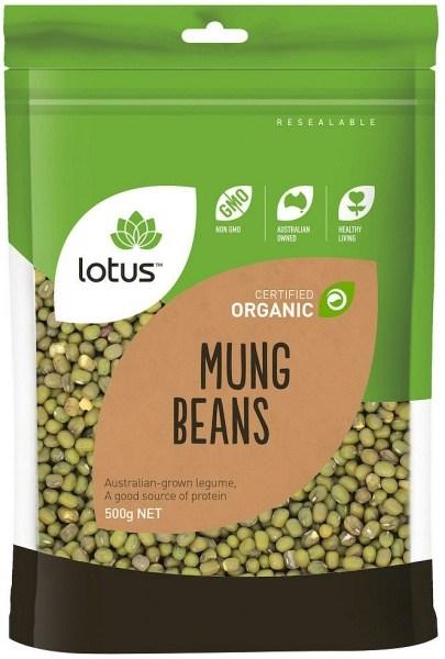 Lotus Organic Mung Beans 500g