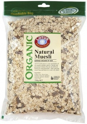 Lotus Organic Natural Muesli 750gm