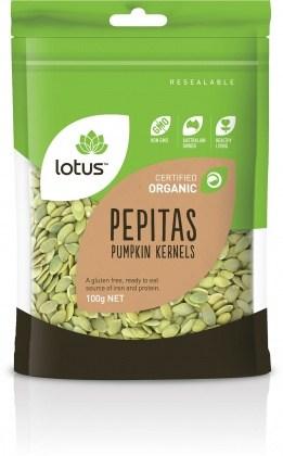 Lotus Organic Pepitas (Pumpkin Kernels)  100g