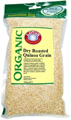Lotus Organic Quinoa Grain Dried Roasted 500g