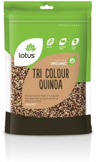 Lotus Organic Quinoa Tri-Colour 500g