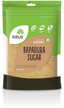 Lotus Organic Rapadura Sugar 375gm