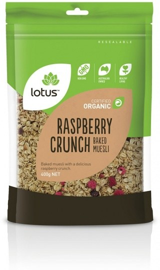 Lotus Organic Raspberry Granola  400gm