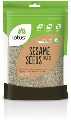 Lotus Organic Sesame Seeds Hulled 200g