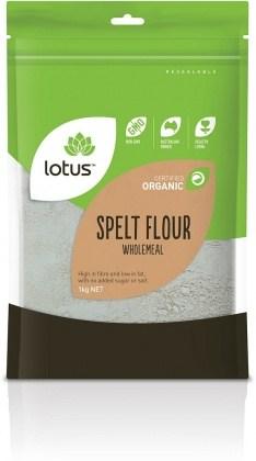 Lotus Organic Spelt Flour Wholemeal 1kg