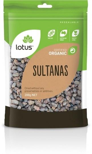 Lotus Organic Sultanas Natural 200gm