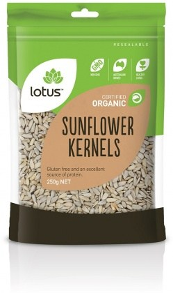 Lotus Organic Sunflower Kernels (Chinese) 250gm