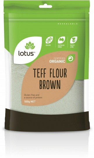 Lotus Organic Teff Brown Flour  500g