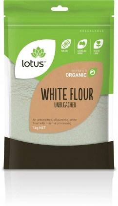 Lotus Organic White Flour Unbleached 1kg