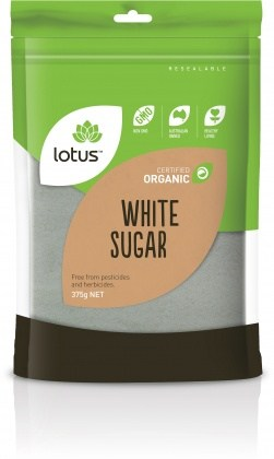 Lotus Organic White Sugar 375gm