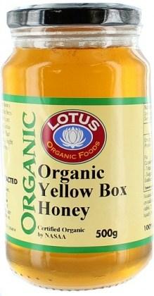 Lotus Organic Yellow Box Honey 500g