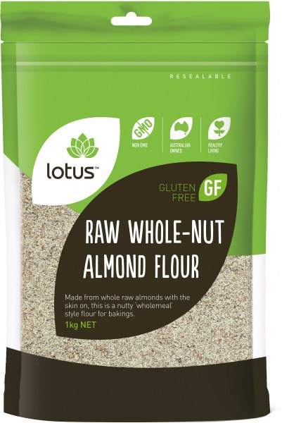 Lotus  Raw Whole-Nut Almond Flour  1kg